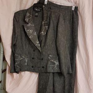 Sag Harbor Dress Women's Blazer and Slacks Suit